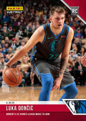 2018-19 Panini Instant NBA Basketball #35 Luka Doncic RC Rookie Dallas Mavericks  22 Points Leads Mavs to Win Print Run 131