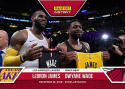 2018-19 Panini Instant NBA Basketball #51 LeBron James/Dwyane Wade Los Angeles Lakers/Miami Heat  #ONELASTDANCE Print Run 181