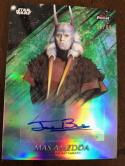 2018 Topps Finest Star Wars Autographs Refractors Green #NNO Jerome Blake Auto SERS99 Mas Amedda
