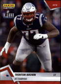 2018 Panini Instant NFL Football #417 Trenton Brown New England Patriots  AFC Champions Print Run 205
