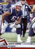 2018 Panini Instant NFL Football #421 Marcus Cannon New England Patriots  AFC Champions Print Run 205
