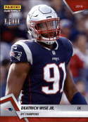 2018 Panini Instant NFL Football #424 Deatrich Wise Jr. New England Patriots  AFC Champions Print Run 205