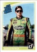 2019 Donruss Racing #18 Danica Patrick GoDaddy.com/Premium Motorsports/Chevrolet Retro Rated Rookies  Official NASCAR Trading Card