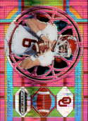 2019 Prizm Draft Picks Football Pink Pulsar Prizm #22 Baker Mayfield Oklahoma Sooners  Official Panini NFL Collegiate Card
