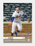 2019 Topps Now Baseball #66 Pete Alonso RC Rookie New York Mets  HRs in Three Straight Games Highlight XBH Record Print Run 1215 Official MLB Trading