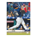 2019 MLB Topps Now Baseball #227 Keston Hiura RC Rookie Milwaukee Brewers  1ST MLB HIT HIGHLIGHTED 2 FOR 3 LIMITED PRINT RUN