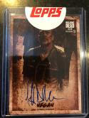 2018 Topps Walking Dead Season 8 Part 1 Auto Sepia Jeffrey Dean Morgan Negan 03/10