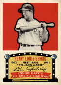 2019 MLB Topps Baseball Iconic Card Reprints #ICR-55 Lou Gehrig New York Yankees  1951 Connie Mack's All-Stars