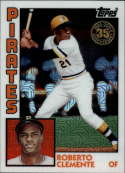 2019 Topps Series 2 Baseball Silver Wrapper Packs Chrome 1984 '84 Refractor #T84-33 Roberto Clemente Pittsburgh Pirates  Official MLB Trading Card
