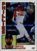 2019 Topps Series 2 Baseball Silver Wrapper Packs Chrome 1984 '84 Refractor #T84-41 Bryce Harper Philadelphia Phillies  Official MLB Trading Card