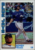 2019 Topps Series 2 Baseball Silver Wrapper Packs Chrome 1984 '84 Refractor #T84-42 Rowdy Tellez RC Rookie Toronto Blue  Official MLB Trading Card