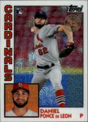 2019 Topps Series 2 Baseball Silver Wrapper Packs Chrome 1984 '84 Refractor #T84-47 Daniel Ponce de Leon RC Rookie St. L Official MLB Trading Card