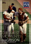 2019 Topps Series 2 150 Years of Baseball Greatest Moments #GM-13 Bob Gibson St. Louis Cardinals  Official MLB Trading Card