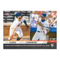 2019 Topps Now Baseball #324 Pete Alonso/Darryl Strawberry New York Mets  Joins as only Met Rookies with 20 HR Limited Print Run Online Exclusive