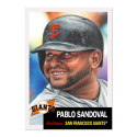 2019 Topps The MLB Living Set Baseball #204 Pablo Sandoval San Francisco Giants  Official Baseball Trading Card with Facsimile Red Autograph on Back C