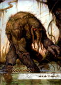 2019 Flair Marvel NonSport #94 Man-Thing SP Short Print Official Entertainment Trading Card From Upper Deck Flairium Tie Flairium Tier 1