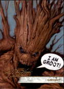 2019 Flair Marvel NonSport #116 Groot SP Short Print Official Entertainment Trading Card From Upper Deck Flairium Tier 3 Flairium Tier 3