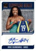 2019 Donruss WNBA Signature Series #42 Arike Ogunbowale Auto Dallas Wings  Official Panini Basketball Card