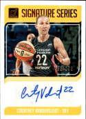 2019 Donruss WNBA Signature Series Press Proof #13 Courtney Vandersloot Auto SERS199 Chicago Sky  Official Panini Basketball Card