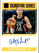 2019 Donruss WNBA Signature Series Press Proof Purple #13 Courtney Vandersloot Auto SERS99 Chicago Sky  Official Panini Basketball Card