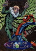 2015 Upper Deck Marvel Vibranium When Worlds Collide #WC-19 Spider-Man/Vulture