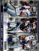 2017 Playoff Football Flea Flicker Kickoff #1 Dak Prescott/Dez Bryant/Ezekiel Elliott SERS199 Dallas Cowboys  Official Panini NFL Trading Card