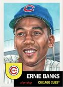 2019 Topps The MLB Living Set #217 Ernie Banks Chicago Cubs  Official Baseball Trading Card with Facsimile Red Autograph on Back Continuation of 2018