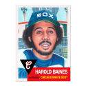 2019 Topps The MLB Living Set #218 Harold Baines Chicago White Sox  Official Baseball Trading Card with Facsimile Red Autograph on Back Continuation o