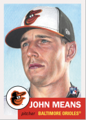 2019 Topps The MLB Living Set #221 John Means RC Rookie Baltimore Orioles  Official Baseball Trading Card with Facsimile Red Autograph on Back Continu