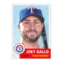 2019 Topps The MLB Living Set #222 Joey Gallo Texas Rangers  Official Baseball Trading Card with Facsimile Red Autograph on Back Continuation of 2018