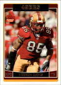 2006 Topps Football #363 Vernon Davis RC Rookie San Francisco 49ers  Official NFL Trading Card (Scan streaks are not on card, Stock Photos used, Card