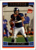 2006 Topps Football #365 Jay Cutler RC Rookie Denver Broncos  Official NFL Trading Card (Scan streaks are not on card, Stock Photos used, Card will be