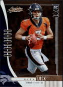 2019 Absolute NFL (Retail) #115 Drew Lock RC Rookie Denver Broncos  Official Panini Football Trading Card