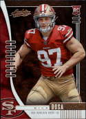 2019 Absolute NFL (Retail) #131 Nick Bosa RC Rookie San Francisco 49ers  Official Panini Football Trading Card