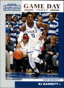 2019-20 Contenders Draft Picks Game Day Ticket #3 RJ Barrett Duke Blue Devils  Official Panini NCAA Collegiate Basketball Card (any streak on scan is
