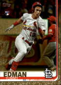 2019 Topps Update (Series 3) Gold SER2019 #US84 Tommy Edman RC Rookie St. Louis Cardinals Official Baseball Trading Card