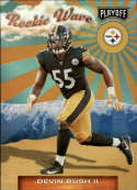 2019 Playoff Rookie Wave Football #25 Devin Bush II Pittsburgh Steelers  RC Official Panini NFL Trading Card