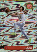 2019-20 Panini Basketball Stickers #99 Trae Young Foil Atlanta Hawks Official NBA Sticker Collection Album Peelable Card (Paper thin and approx 1.5 by