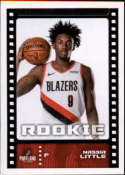 2019-20 Panini Basketball Stickers #445 Nassir Little RC Rookie Portland Trail Blazers Official NBA Sticker Collection Album Peelable Card (Paper thin