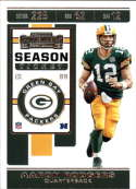 2019 NFL Contenders Season Ticket #66 Aaron Rodgers Green Bay Packers  Official Panini Football Trading Card