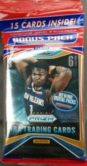 2019-2020 NBA Prizm Basketball Cello Hanger Pack Fat pack Chase Zion Williamson Silver Prizm Rookie!