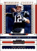 2019 NFL Contenders Winning Ticket #1 Tom Brady New England Patriots  Official Panini Football Trading Card