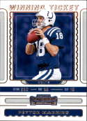 2019 NFL Contenders Winning Ticket #3 Peyton Manning Indianapolis Colts  Official Panini Football Trading Card