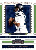 2019 NFL Contenders Winning Ticket #4 Russell Wilson Seattle Seahawks  Official Panini Football Trading Card