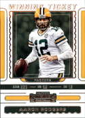 2019 NFL Contenders Winning Ticket #7 Aaron Rodgers Green Bay Packers  Official Panini Football Trading Card