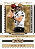2019 NFL Contenders Winning Ticket #8 Drew Brees New Orleans Saints  Official Panini Football Trading Card