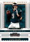 2019 NFL Contenders Winning Ticket #10 Nick Foles Philadelphia Eagles  Official Panini Football Trading Card