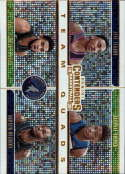 2019-20 NBA Contenders Team Quads #18 Andrew Wiggins/Jarrett Culver/Jeff Teague/Karl-Anthony Towns Minnesota Timberwolve Official Panini Basketball Tr
