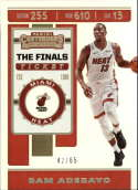 2019-20 NBA Contenders The Finals Ticket #8 Bam Adebayo SERS65 Miami Heat  Official Panini Basketball Trading Card from Hobby (Scan streaks are Not on
