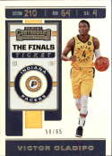 2019-20 NBA Contenders The Finals Ticket #99 Victor Oladipo SERS65 Indiana Pacers  Official Panini Basketball Trading Card from Hobby (Scan streaks ar